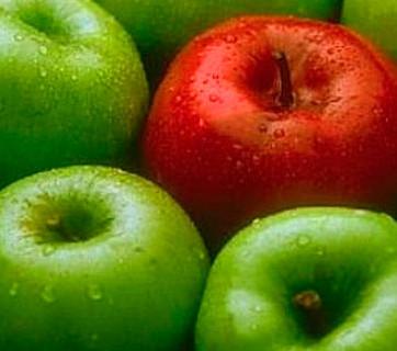 Manzanas verdes o rojas ¿Cuál es mejor?