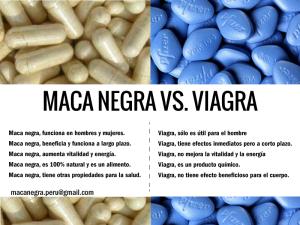 Maca VS viagra